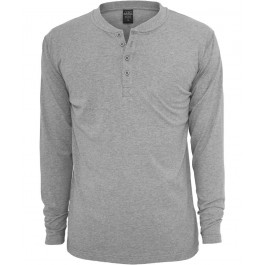 Urban Classics Basic Henley L/S Tee TB276 (Black)-Medium