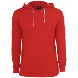 Urban Classics Jersey Hoody (Red)-Large