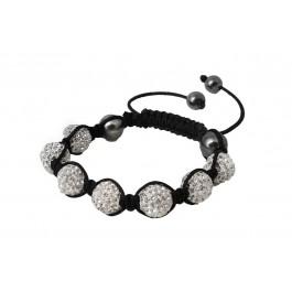 Shamballa Unisex Friendship Bracelet (Silver)