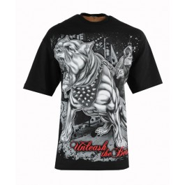 Men's Tops Hip Hop Big & Tall Unleash The Beast T-Shirt (Black)-XX-Large
