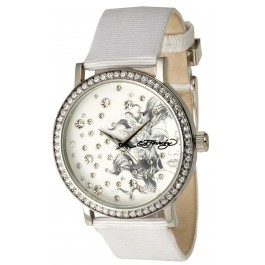 Ed Hardy Womens Despina Bling Watch (White)
