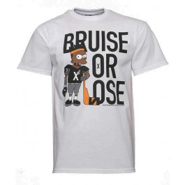 10 Deep Bruise Or Lose T Shirt (White)-Large