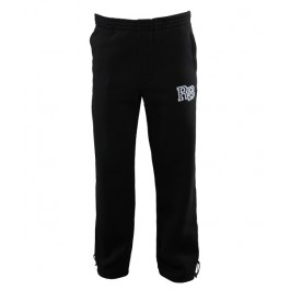 Raw Blue Basic Block Sweat Pants (Black)-Large