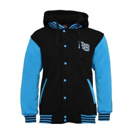 Raw Blue 2 Tone Hoodies (Black/Aqua)-XX-Large