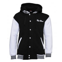 Raw Blue 2 Tone Signature Hoodies (Black/White)-XX-Large