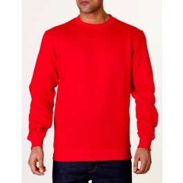 Raw Blue Mens Basic Crewneck Red XXXX-Large