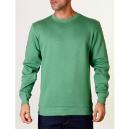 Raw Blue Mens Basic Crewneck Green XXXX-Large