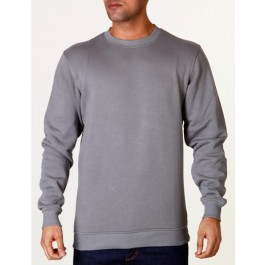 Raw Blue Mens Basic Crewneck Grey X-Large
