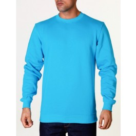 Raw Blue Mens Basic Crewneck Aqua XXXX-Large