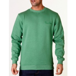 Raw Blue Mens Signature Crewneck Green XXXX-Large