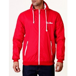 Raw Blue Mens Jackets Signature Contrast Windbreaker Red/White X-Large