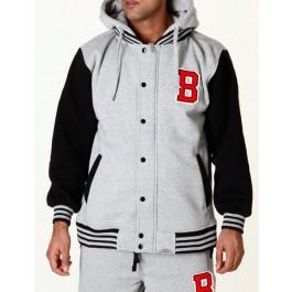 Raw Blue Mens Hoodies B Fleece Grey/Black 3_XL