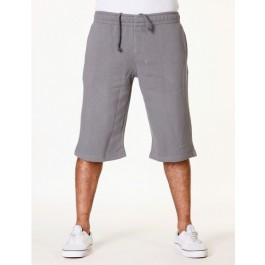 Raw Blue Mens Basic Signature Fleece Shorts Grey 6_XL