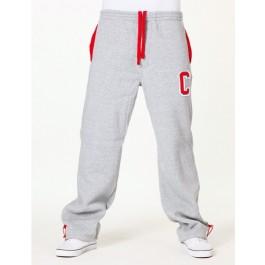 Raw Blue Mens Sweat Pants Poly C Grey/Red Medium