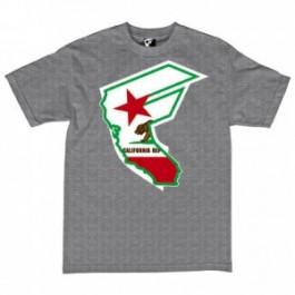 Famous Mens Ca Reppin T-Shirts (Grey) Small