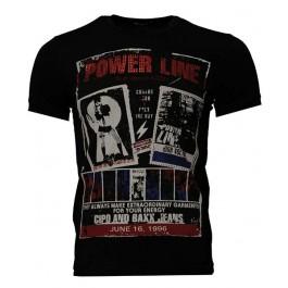 Cipo & Baxx Mens C-5215 T-Shirts  (Black) Small