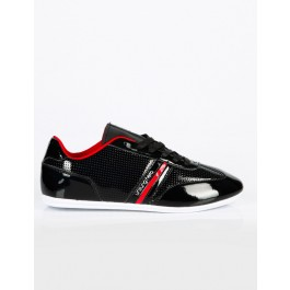Unsung Hero Mens Lisbon Trainers (Black/Red) UK_7
