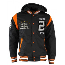 Raw Blue Jackets Made 2 Win (Grey/Orange)-Medium