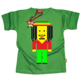 Stardust Pixel Marley T Shirt (Green)-3-4 Years