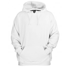 Urban Classics Basic Pullover Hoodies (White)-Small