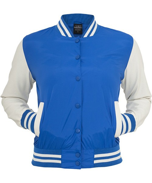 Urban Classics Womens TB132 Light College Jacket (Blue)