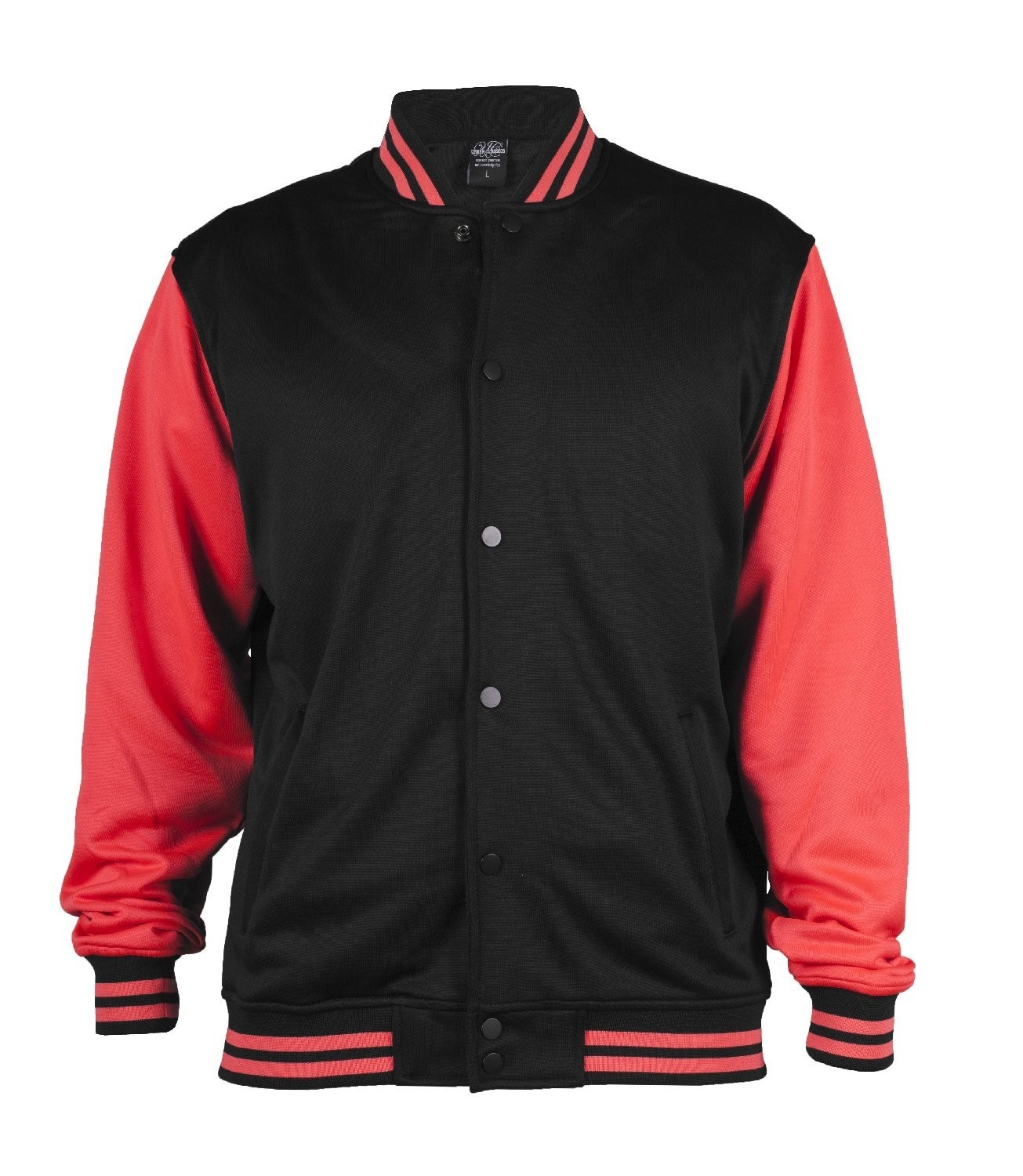 Urban Classics Mens TB240 Neon College Jacket (Black/Infrared)