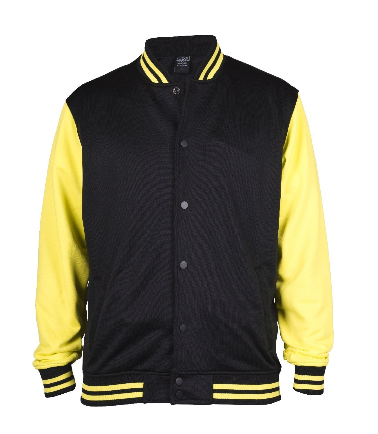 Urban Classics Mens TB240 Neon College Jacket (Black/Yellow)
