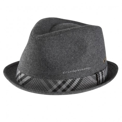 DrunknMunky Melton Wool Hat (Dark Grey)