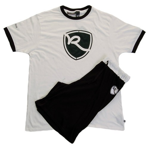 Rocawear Mens 'R' Shield Loungewear Shorts Set (White/Black)