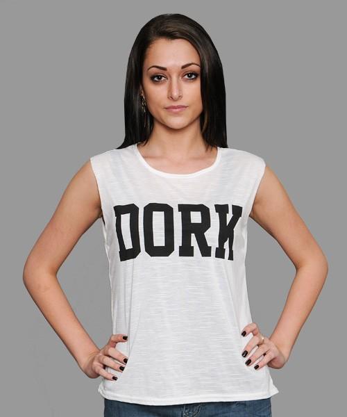 Yukka Womens Dork T Shirt (White)