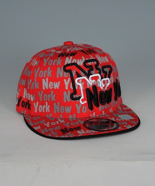 City Hunter New York Text Cap (Red)