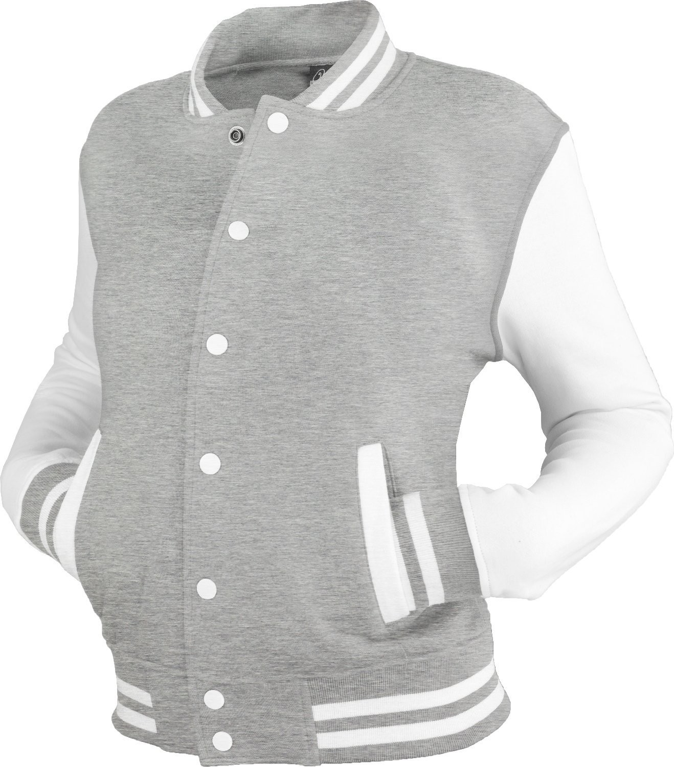 Urban Classics Womens 2-tone College Sweat Jacket (Grey/White)