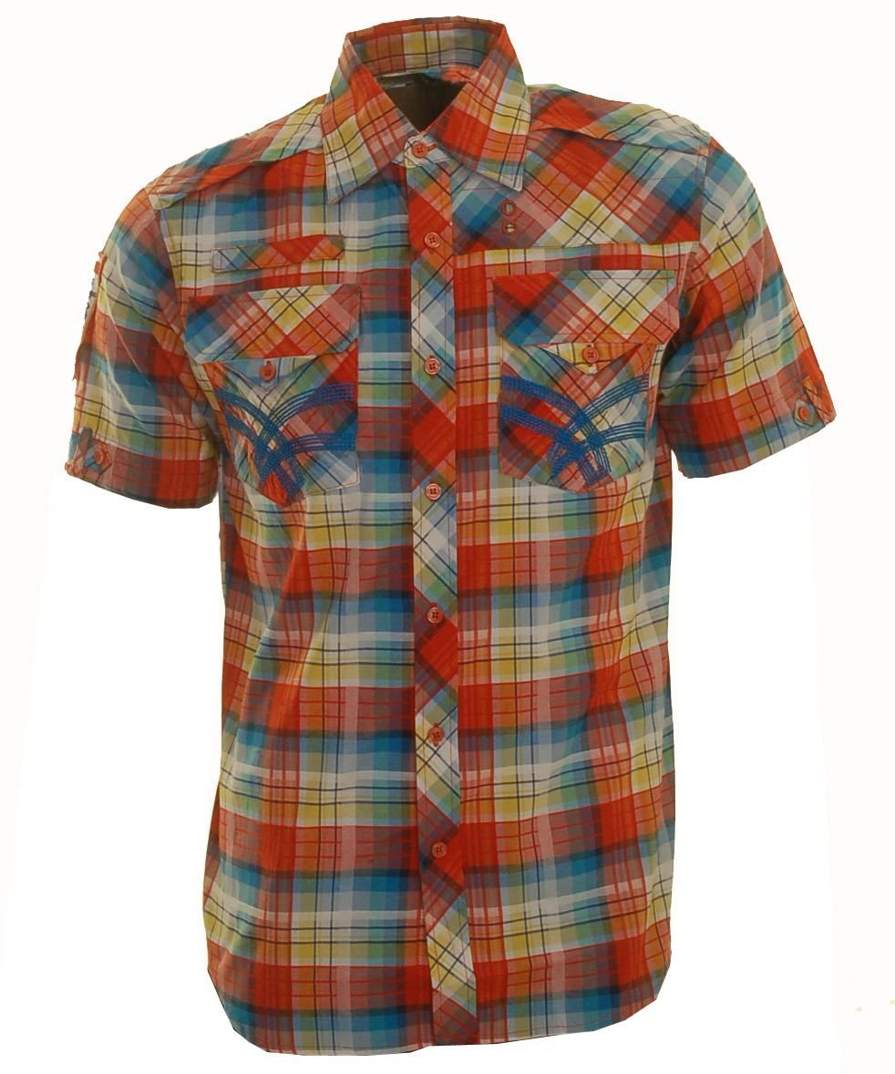 Raw Blue Mens Shirt (Orange)