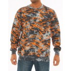 IMPERIOUS Mens Tie Dye Crewneck With Tiger Print (Black)