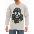 IMPERIOUS Mens Crewneck Sweatshirt With Print (Grey)