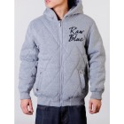Raw Blue Quilted Hoody (Grey)