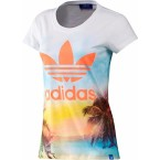 Adidas Womens Photo T-Shirts (Wht/Multicolor)