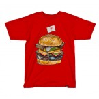 Rook King Burger T-Shirt (Red)