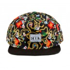 Rook Mens Caps Snake and Chains (Black)