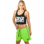 Urban Dance Womens UD054 Dance Mesh Shorts (Green)