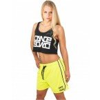 Urban Dance Womens UD054 Dance Mesh Shorts (Yellow)